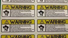 Chuck Norris Warning Sticker Vehicle - Car - Motorcycle Sticker Harley Davidson