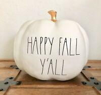 BRAND NEW Rae Dunn HTF RARE LL Thanksgiving Halloween HAPPY FALL Y'ALL Pumpkin