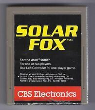 ATARI 2600 Solar Fox vintage game Cart