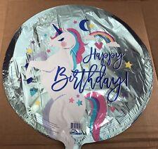 "Rainbow Unicorn 18"" Happy Birthday Balloon Birthday Party Decorations"