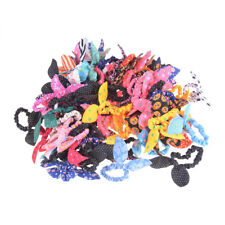 10Pcs Mixed Rabbit Ear Hair Tie Bands Japan Korean Style Ponytail Holder Gift LY