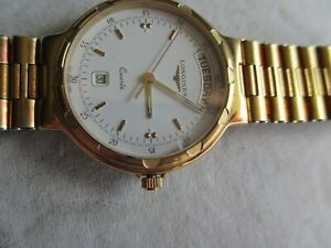 VINTAGE LONGINES CONQUEST QUARTZ CALENDAR 163-4961 SWISS MADE