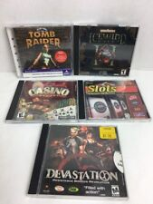 PC Game LOT 5 Games-Forgotten Realms Tomb Raider Devastation Casino Quest Slots