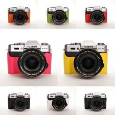 Genuine Real Leather Half Camera Case Bag Cover for FUJIFILM X-T20 X-T10 8 Color