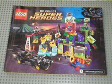 Notice Building instruction booklet  LEGO BATMAN SUPER HEROES 76035 Jokerland