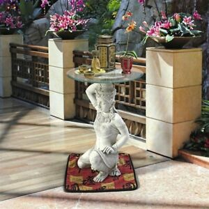 Southeast Asian Thai Teppanom Beautiful Being  Sculpted Table Accent side Home