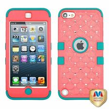 For Apple iPod Touch 5th Gen/6th Gen Baby Red Fish Scale Tuff Hard Hybrid Case