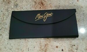 New MAUI JIM Black Matte Finish Tri-Fold Hard Sunglasses Case