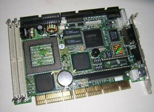 Vintage CI5TTP-B1 Half-Size Socket 7 Pentium Industrial PCISA Card +Cable