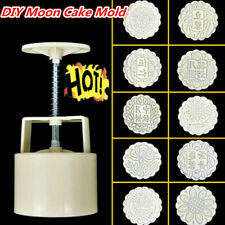 DIY Moon Cake Mold Hand Pressure Mold Kitchen Baking Mold Plastic Hot
