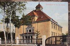 13428 tolle AK Bernsdorf OL evangelische Schule 1918 bei Hoyerswerda !