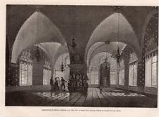 MOSCOU MOSCOW APPARTEMENT DU TEREM SAALE D OR RUSSIE RUSSIA IMAGE 1872 ENGRAVING