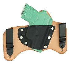 FoxX Leather & Kydex IWB Hybrid Holster Remington RM380 Right Natural Conceal