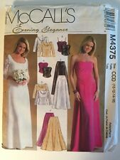 McCall's M4375 Evening Wedding Skirt and lined Tops sewing pattern CCD 10-16 UC