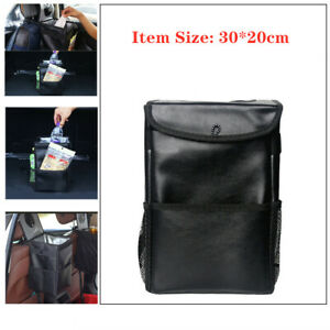 PU Car Waterproof Foldable Trash Can Creative Back Seat Insulation Storage Box