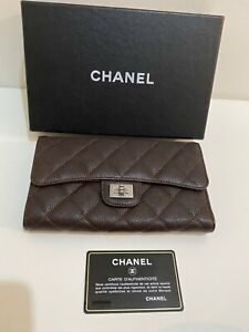 Chanel Reissue 2.55 Flap Wallet Caviar Brown - New