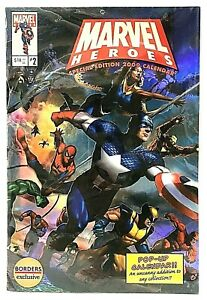 Marvel Heroes Pop Up Calendar #2 Special Edition 2009 Borders Exclusive