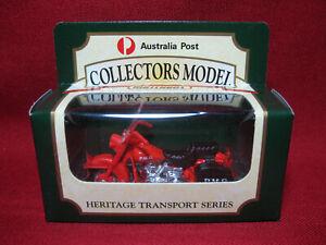 Matchbox Harley Davidson Motorcycle Australia Post PMG 8 Heritage Transport MIB
