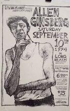 Allen Ginsberg | Long Beach Poetry Reading | Orig 1994 Poster art by Joe Linton