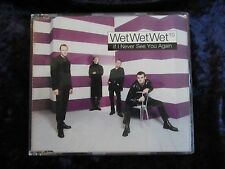 WET WET WET : IF I NEVER SEE YOU AGAIN  1 track RARE promo CD - MARTI PELLOW cd