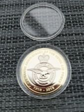2018 RAF CENTENARY BADGE £2 COIN IN BRILLIANT UNCIRCULATED CONDITION.