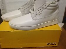 Brand New WESC Shoes Hagelin White Sneakers Size 7.5 EUR 40 - free shipping !!