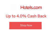 $10 + Up2% CASH BACK FOR orders At Hotels.com for existing customers -Limited !