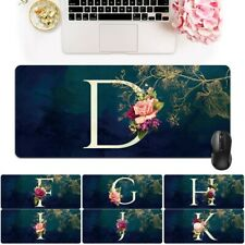 Initial Name Large Keyboard Leather Gaming Mouse Mat Pad Computer Desk Laptop PC