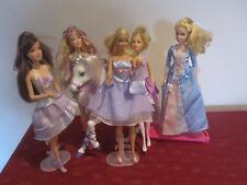 Barbie bulk lot - white horse, fairy, princess, glamour Barbies 5 dolls dressed