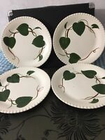 Blue Ridge Southern Potteries, Inc. Set Of Four Eight Inch Plates With Vines