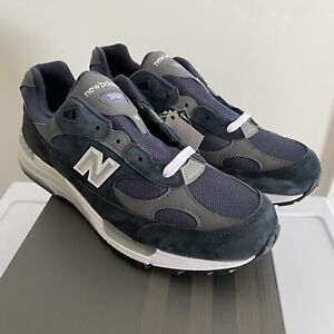 NEW New Balance 992 Navy Mens size 11 MADE IN USA Standard Width D Grey 992
