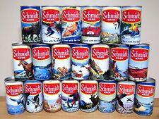 *Complete set of 21 Schmidt scenic beer cans from G. Heileman