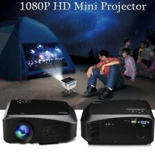 LED 1080p Home Movie Projector Red-blue 3D Screen