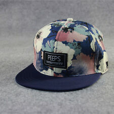 Adjustable Floral Snapback Hats Unisex Men's Women Hip-Hop Bboy Baseball Cap NEW
