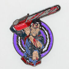 Evil Dead Enamel Pin Ash Horror Movie Zombie Retro Brooch 80s Vhs Badge Lapel