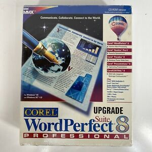 Corel WordPerfect Suite 8 Professional Upgrade New Box Sealed Intel MMX CD- ROM