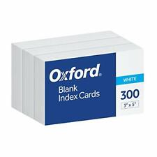 Oxford Blank Index Cards 3 X 5 White 300 Pack 10013