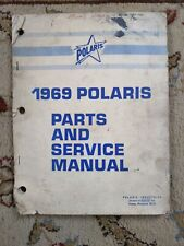 Vintage 1969 Polaris Snowmobile Parts And Service Manual