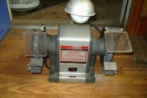 NICE  Sears Craftsman 1/3 HP Bench Grinder 397.19391  Lamp & Shields