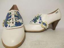 Bass Womens Love Rachel Antonoff Lewis Floral Print Oxfords White Size 9 M