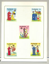 Gambia #644-649 Disney Christmas 5v & 1v S/S Imperf Chromalin Proofs in Folder