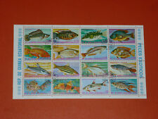 Briefmarken, Fische, Äquatorialguinea, Block, gestempelt