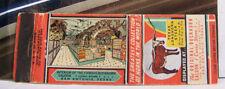 Rare Vintage Matchbook Cover E2 San Antonio Texas Famous Buckhorn Saloon Steer