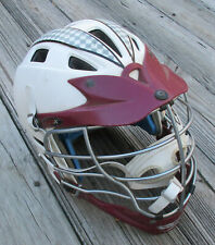 Used Cascade Cpx Lacrosse Helmet ~ White & Maroon ~ Size M ~ Lax