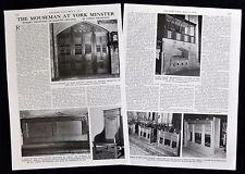 ROBERT THOMPSON AT YORK MINSTER MOUSEMAN FURNITURE MAKER 2pp PHOTO ARTICLE 1976