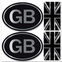 2 x GB Union Jack Moto Reg Targa Autoadesivo Adesivi in Polivinile