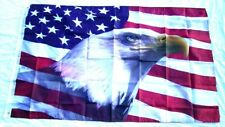 Us Flag With Eagle Red White Blue 3' X 5' Banner Indoor / Outdoor 694