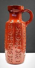 Vintage Scheurich Pottery Floor Vase Vessel Fat Lava Ceramic West Germany 1960