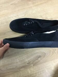 Allsaints Mens Size 8. Black Trainers/shoes/pumps Lace Up