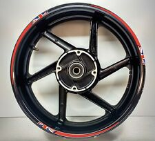 GB Flag Union Jack Tapered Reflective Red Motorcycle Wheel Rim 025GB